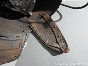 michaeldlong.com 12275 300x225 17th Century English Civil War Harquebusier's Lobster Tail Helmet