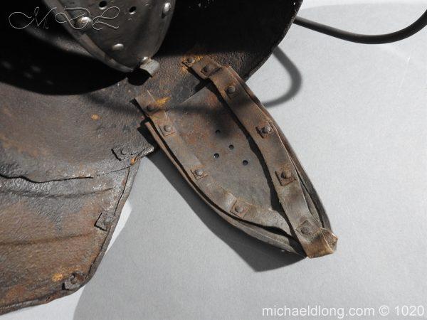 michaeldlong.com 12275 600x450 17th Century English Civil War Harquebusier's Lobster Tail Helmet