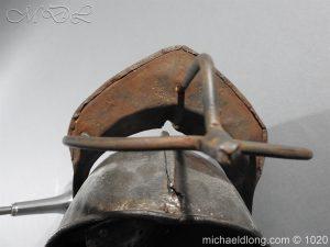 michaeldlong.com 12276 300x225 17th Century English Civil War Harquebusier's Lobster Tail Helmet