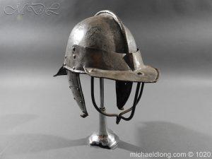 michaeldlong.com 12278 300x225 17th Century English Civil War Harquebusier's Lobster Tail Helmet