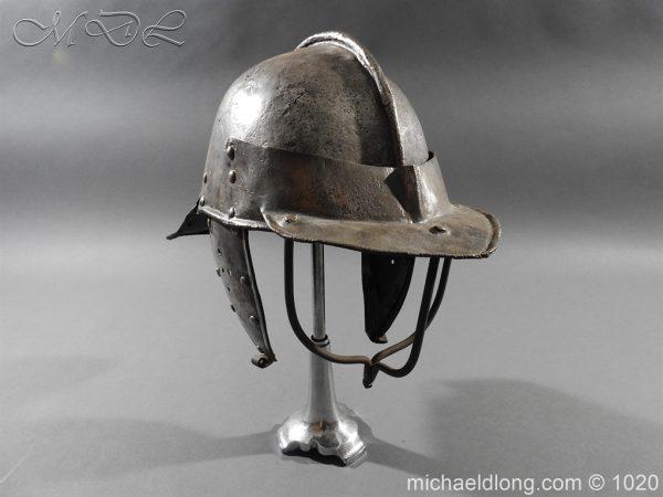 michaeldlong.com 12278 600x450 17th Century English Civil War Harquebusier's Lobster Tail Helmet
