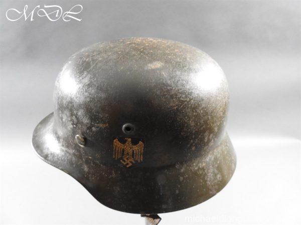 michaeldlong.com 14220 600x450 German Kriegsmarine Double Decal Helmet