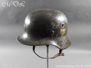 michaeldlong.com 14222 300x225 German Kriegsmarine Double Decal Helmet