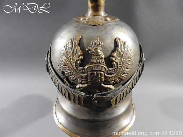 michaeldlong.com 14931 600x450 Prussian M1867 NCO Cuirassier Cavalry Helmet