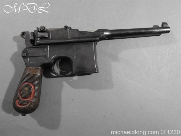 michaeldlong.com 15013 600x450 Mauser Contract Red 9 Semi Automatic Pistol Deactivated