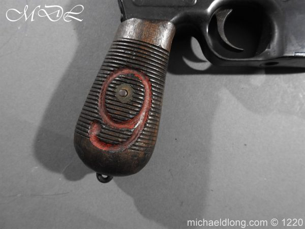 michaeldlong.com 15014 600x450 Mauser Contract Red 9 Semi Automatic Pistol Deactivated