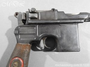 michaeldlong.com 15015 300x225 Mauser Contract Red 9 Semi Automatic Pistol Deactivated