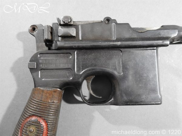 michaeldlong.com 15015 600x450 Mauser Contract Red 9 Semi Automatic Pistol Deactivated