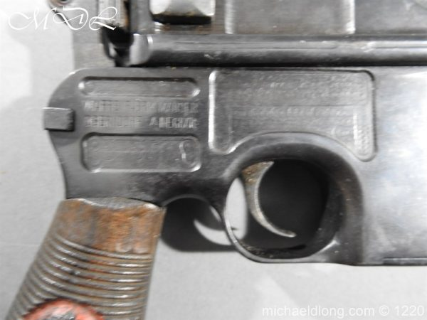 michaeldlong.com 15017 600x450 Mauser Contract Red 9 Semi Automatic Pistol Deactivated
