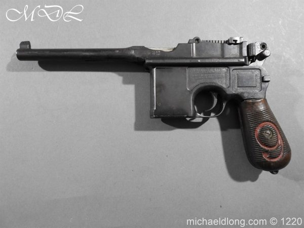 michaeldlong.com 15018 600x450 Mauser Contract Red 9 Semi Automatic Pistol Deactivated