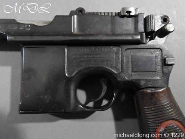 michaeldlong.com 15020 600x450 Mauser Contract Red 9 Semi Automatic Pistol Deactivated