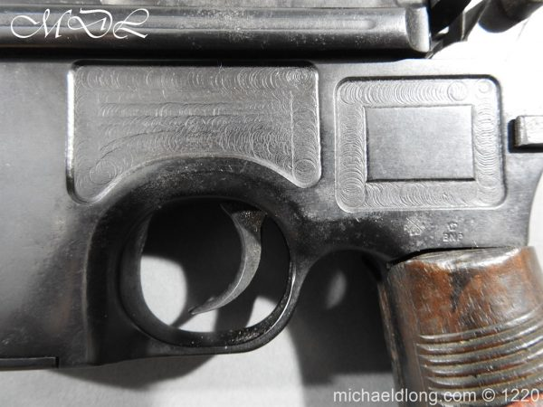 michaeldlong.com 15021 600x450 Mauser Contract Red 9 Semi Automatic Pistol Deactivated