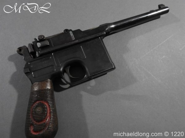 michaeldlong.com 15028 600x450 Mauser Contract Red 9 Semi Automatic Pistol Deactivated
