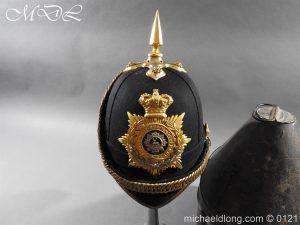 michaeldlong.com 15163 300x225 Victorian Bedfordshire Officer's Blue Cloth Helmet