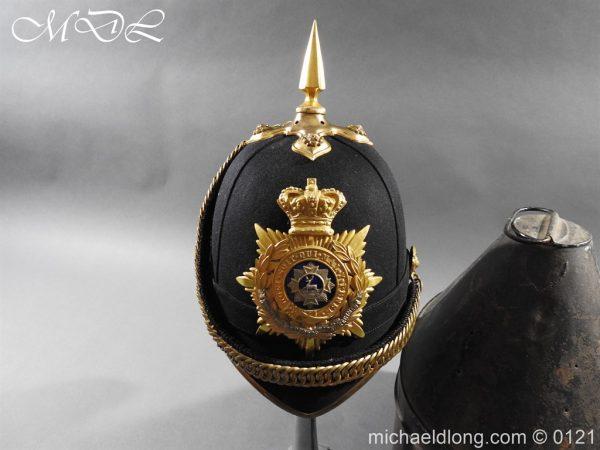 michaeldlong.com 15163 600x450 Victorian Bedfordshire Officer's Blue Cloth Helmet