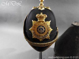 michaeldlong.com 15164 300x225 Victorian Bedfordshire Officer's Blue Cloth Helmet