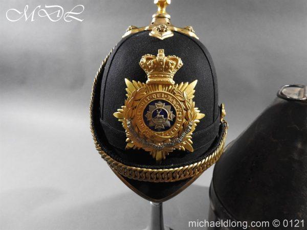 michaeldlong.com 15164 600x450 Victorian Bedfordshire Officer's Blue Cloth Helmet