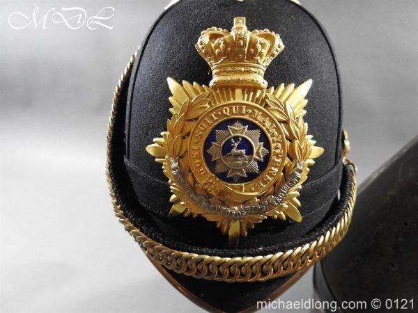 michaeldlong.com 15165 600x450 Victorian Bedfordshire Officer's Blue Cloth Helmet
