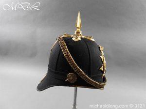 michaeldlong.com 15166 300x225 Victorian Bedfordshire Officer's Blue Cloth Helmet