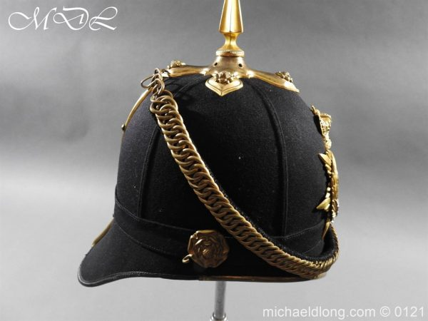 michaeldlong.com 15167 600x450 Victorian Bedfordshire Officer's Blue Cloth Helmet