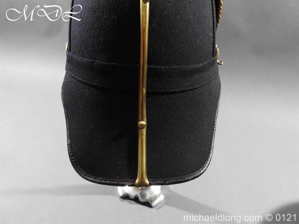 michaeldlong.com 15169 600x450 Victorian Bedfordshire Officer's Blue Cloth Helmet