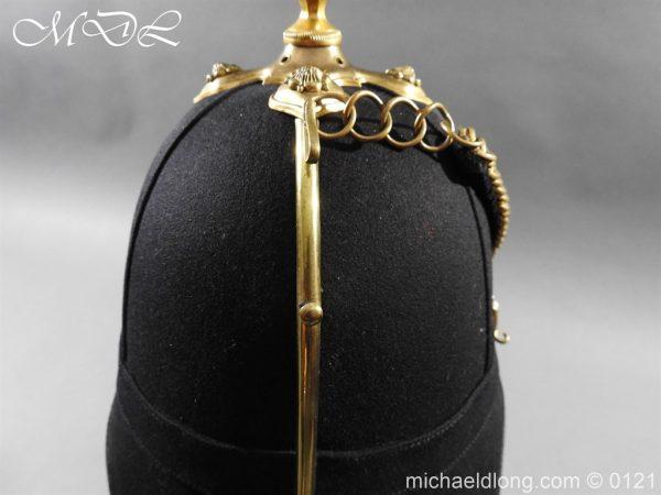 michaeldlong.com 15170 600x450 Victorian Bedfordshire Officer's Blue Cloth Helmet
