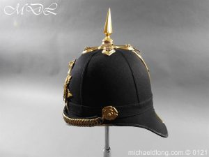 michaeldlong.com 15171 300x225 Victorian Bedfordshire Officer's Blue Cloth Helmet
