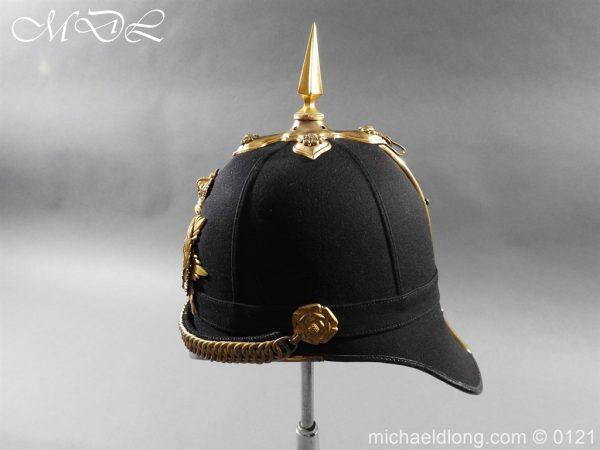 michaeldlong.com 15171 600x450 Victorian Bedfordshire Officer's Blue Cloth Helmet