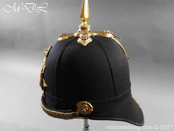 michaeldlong.com 15172 600x450 Victorian Bedfordshire Officer's Blue Cloth Helmet