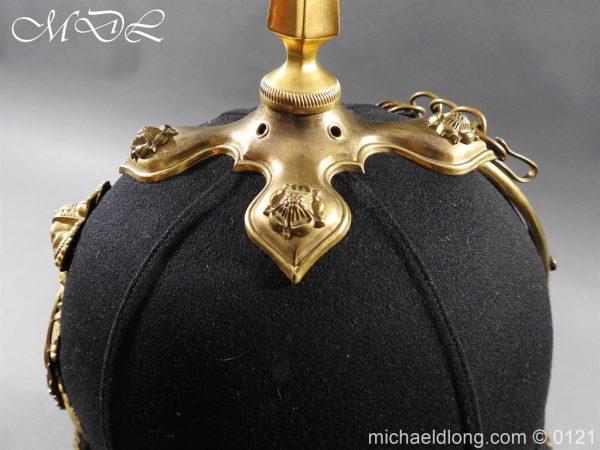 michaeldlong.com 15173 600x450 Victorian Bedfordshire Officer's Blue Cloth Helmet