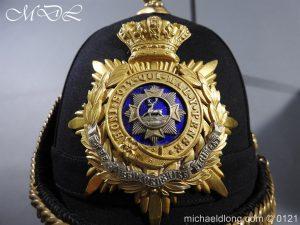 michaeldlong.com 15174 300x225 Victorian Bedfordshire Officer's Blue Cloth Helmet