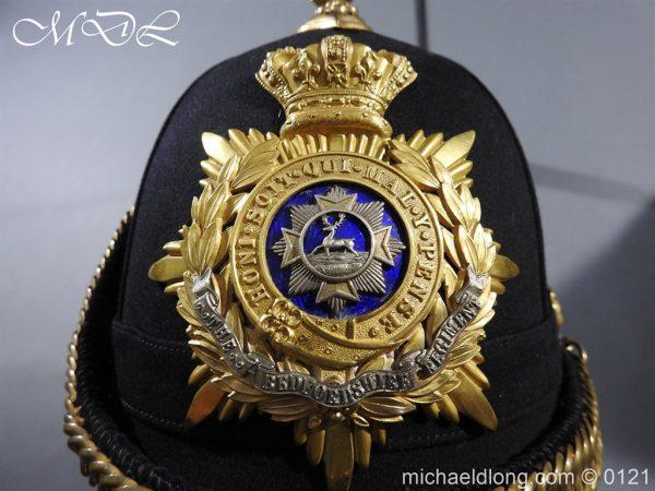 michaeldlong.com 15174 600x450 Victorian Bedfordshire Officer's Blue Cloth Helmet
