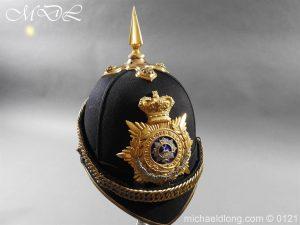 michaeldlong.com 15179 300x225 Victorian Bedfordshire Officer's Blue Cloth Helmet