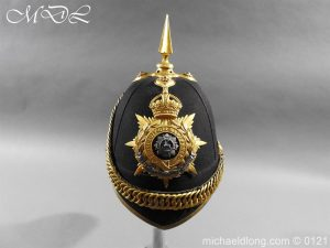 Edwardian Bedfordshire Officer's Blue Cloth Helmet