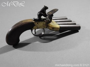 Flintlock Ducks Foot Pistol Circa 1810