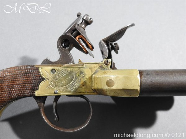 michaeldlong.com 15356 600x450 Flintlock Ducks Foot Pistol Circa 1810