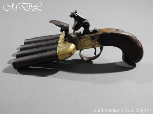 michaeldlong.com 15360 300x225 Flintlock Ducks Foot Pistol Circa 1810
