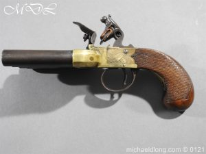 michaeldlong.com 15361 300x225 Flintlock Ducks Foot Pistol Circa 1810