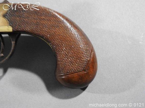 michaeldlong.com 15362 600x450 Flintlock Ducks Foot Pistol Circa 1810
