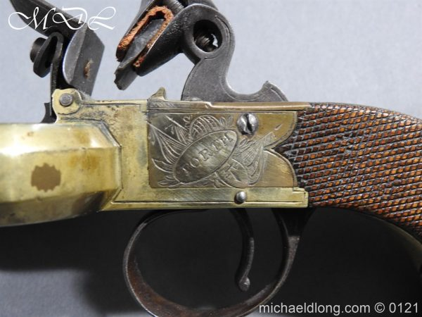 michaeldlong.com 15363 600x450 Flintlock Ducks Foot Pistol Circa 1810