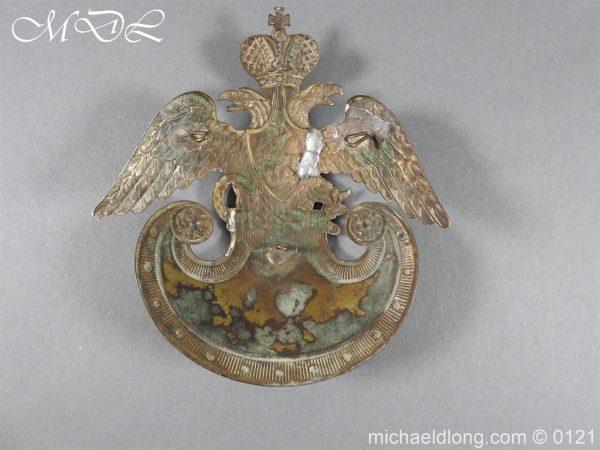 michaeldlong.com 15617 600x450 Russian Double Eagle Shako Helmet Plate