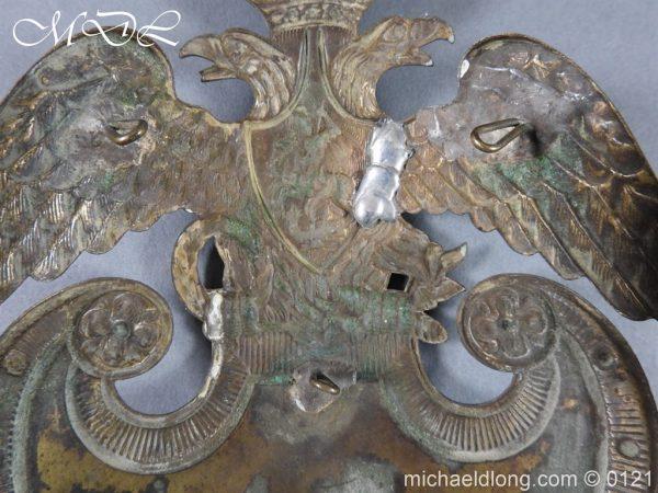 michaeldlong.com 15618 600x450 Russian Double Eagle Shako Helmet Plate