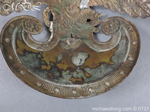 michaeldlong.com 15619 600x450 Russian Double Eagle Shako Helmet Plate