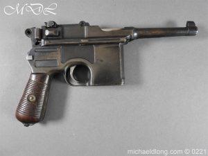 Deactivated WWI Mauser C96 Pistol