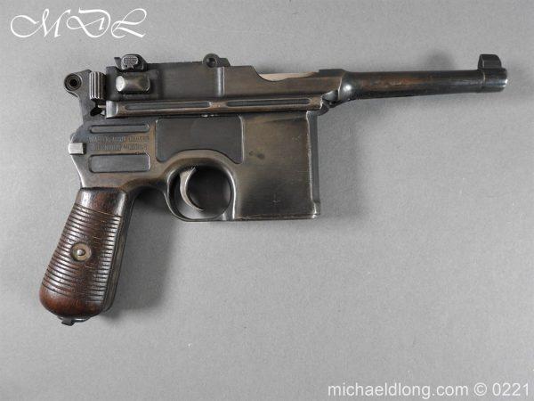 michaeldlong.com 15685 600x450 Deactivated WWI Mauser C96 Pistol