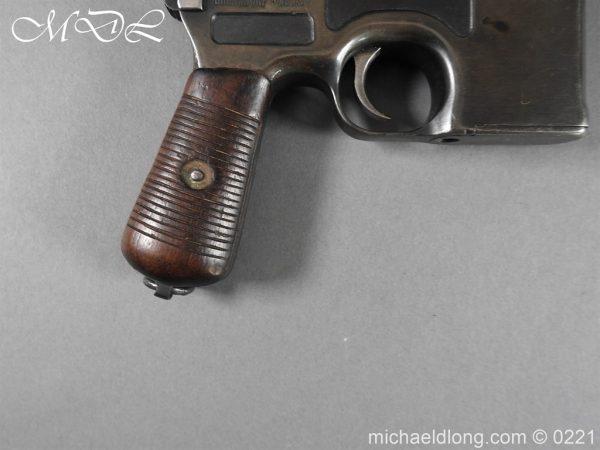 michaeldlong.com 15686 600x450 Deactivated WWI Mauser C96 Pistol
