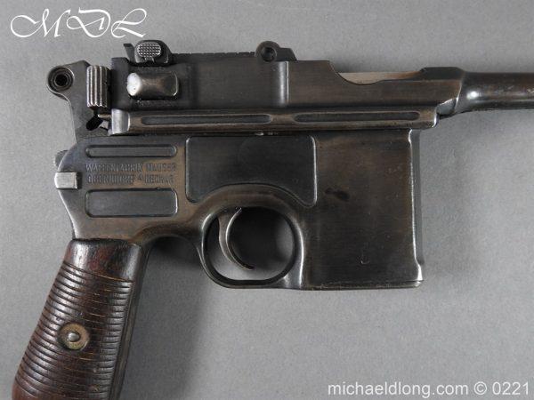 michaeldlong.com 15687 600x450 Deactivated WWI Mauser C96 Pistol