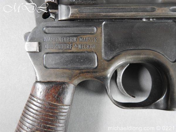 michaeldlong.com 15688 600x450 Deactivated WWI Mauser C96 Pistol