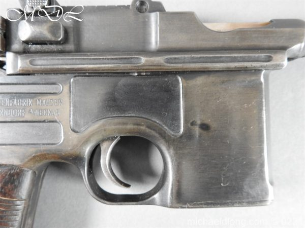michaeldlong.com 15689 600x450 Deactivated WWI Mauser C96 Pistol