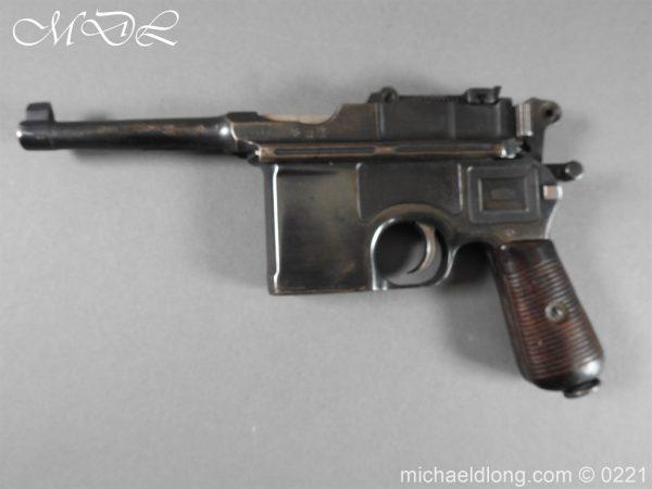 michaeldlong.com 15691 600x450 Deactivated WWI Mauser C96 Pistol